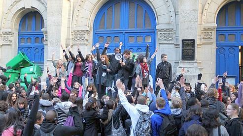 Blocage du lycée Voltaire